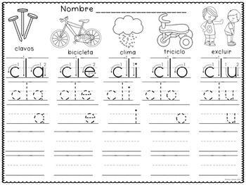 Las-Silabas-BUNDLE Teaching Resources - Trazando y recortando silabas finales, silabas trabadas, silabas iniciales, silabas inversas, y silabas mediales.