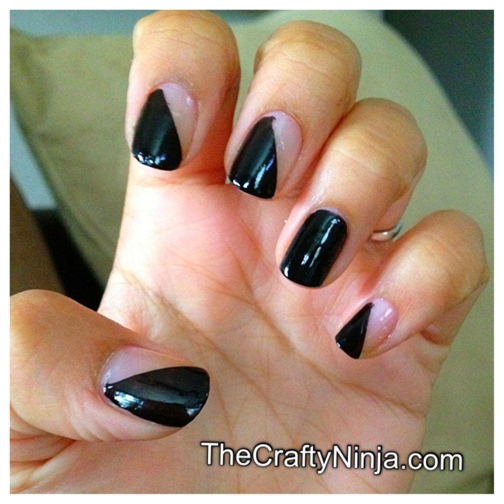 diagonal manicure | Nails | Pinterest | Diagonal nails, Manicure and ...