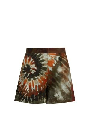 Tie-dye cotton-blend gabardine shorts   Valentino   MATCHESFASHION.COM UK