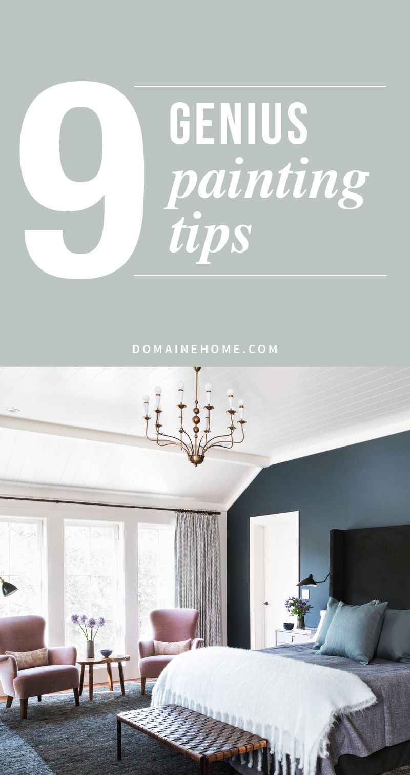 9 Genius Painting Tricks You Never Knew Better Living Tips Tricks Painting Tips Bedroom Home