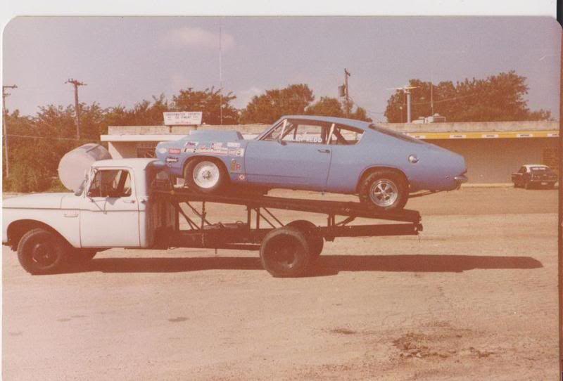 Car hauler and cuda race car vintage drag racing pinterest