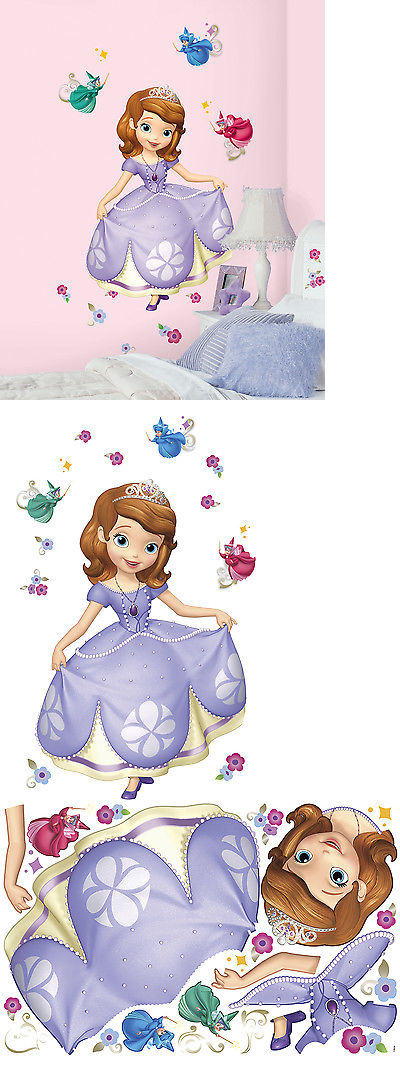 New Giant SOFIA THE FIRST WALL DECALS Disney Pr... - Exclusively ...