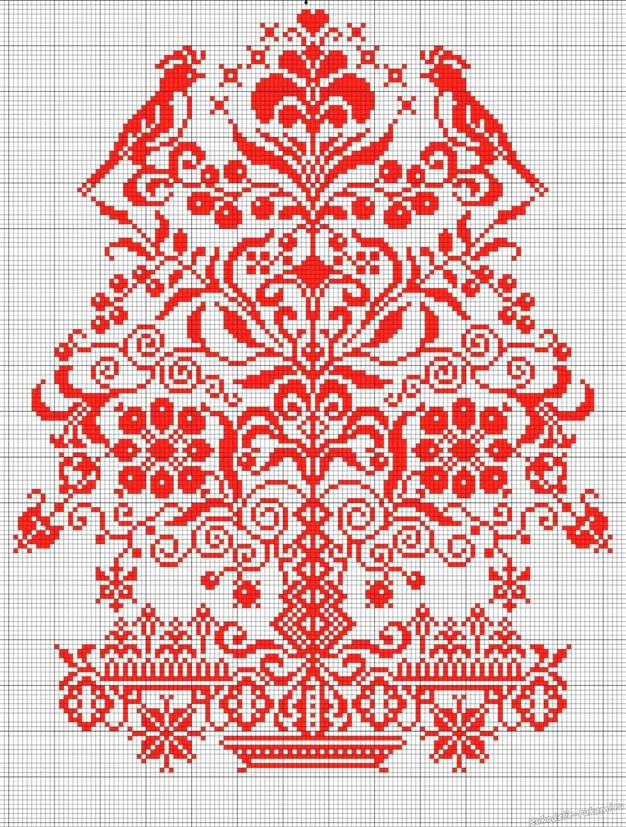 Схема вышивки крестиком рушника фото 268