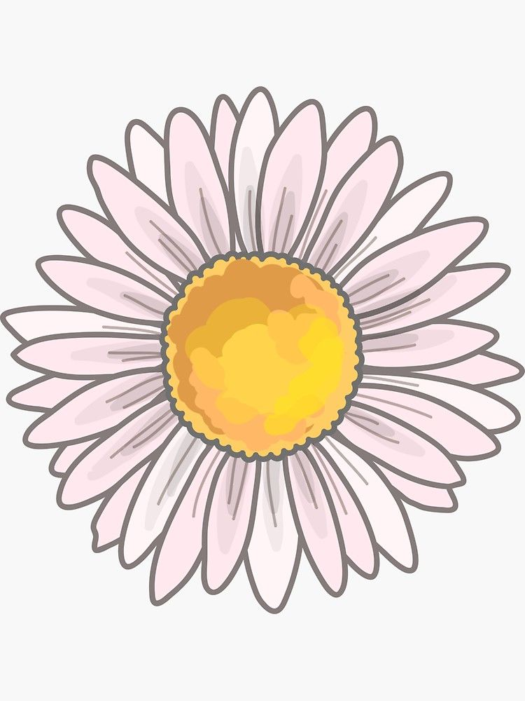 Pink daisy sticker by royal sass bubble stickers