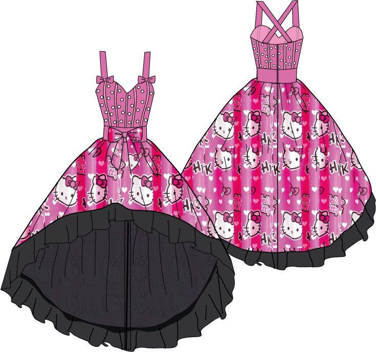 Hello Kitty wedding dress-Jerrica B | Hello kitty, Kitten and Pink ...