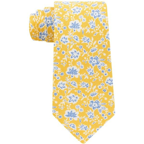 Tommy Hilfiger Men's Burnside Floral Tie (3,055 DOP) ❤ liked on Polyvore featuring men's fashion, men's accessories, men's neckwear, ties, yellow, mens yellow tie, mens ties and mens floral ties