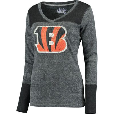 cd9c4f50101 Women's Cincinnati Bengals Touch by Alyssa Milano Black Goal Line Long  Sleeve…