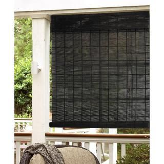 Espresso Natural Bamboo Indoor/ Outdoor Roll Up Shade | Overstock™ Shopping    Great Deals