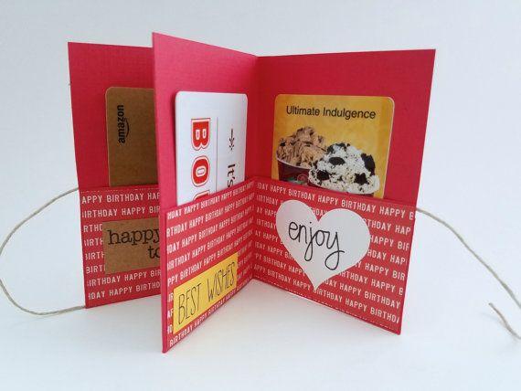 Mini 4x3 Birthday Book Simple Red Card Happy Birthday Gift Card