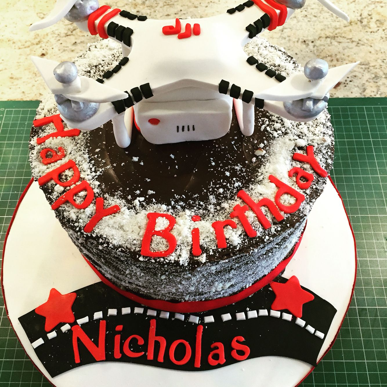 how to make a drone cake