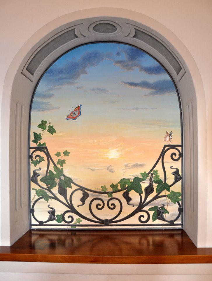 Risultati immagini per trompe l'oeil interno finestra