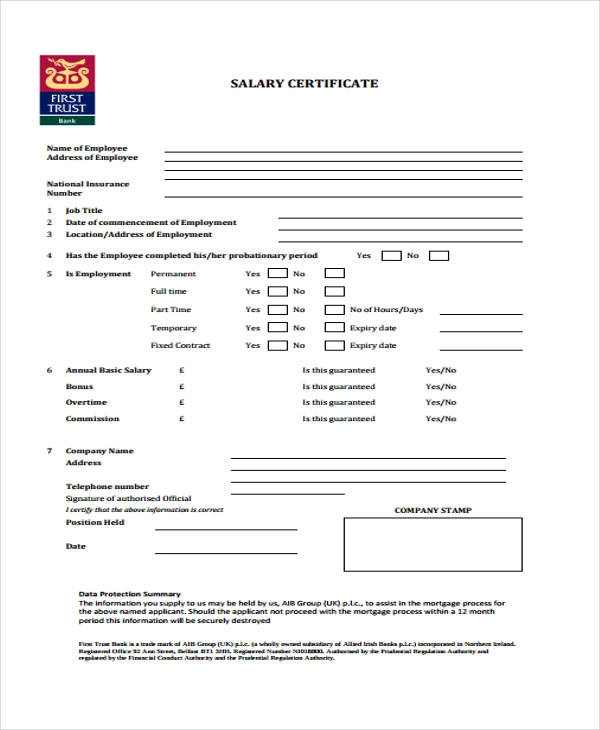 salary certificate templates resume sample for college graduate free word 2019 samples part time jobs