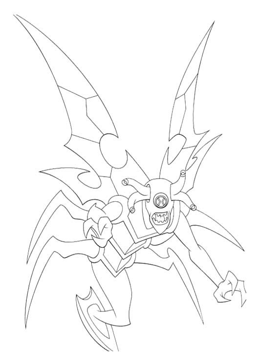 Ben Tennyson Transform Into Beings Spooky Coloring Page Ben 10 Coloring Pages Cool Coloring Pages
