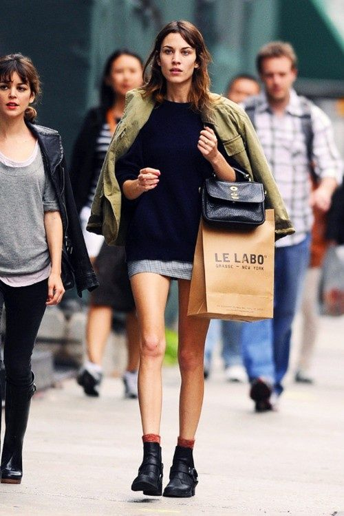 Flat Ankle Boots | Rue | Alexa chung