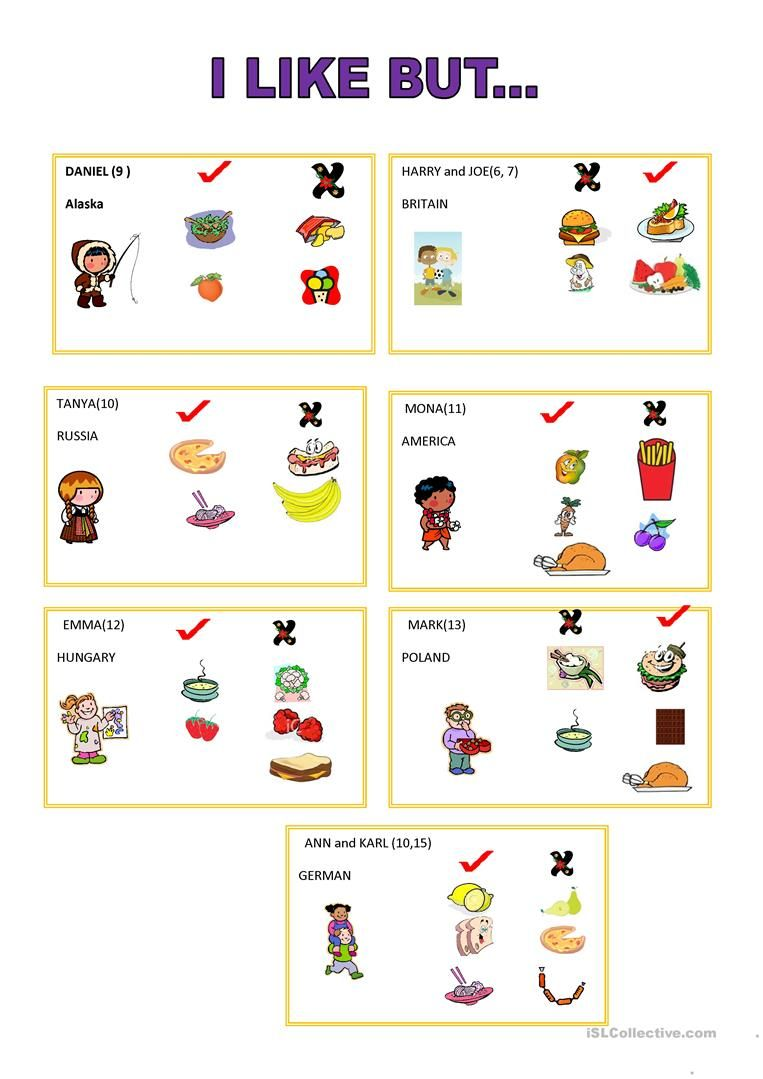 I Like But Speaking Card Worksheet Free Esl Printable Worksheets Made By Teachers Taller De Ingles Ejercicios De Ingles Gramatica Del Ingles [ 1079 x 763 Pixel ]