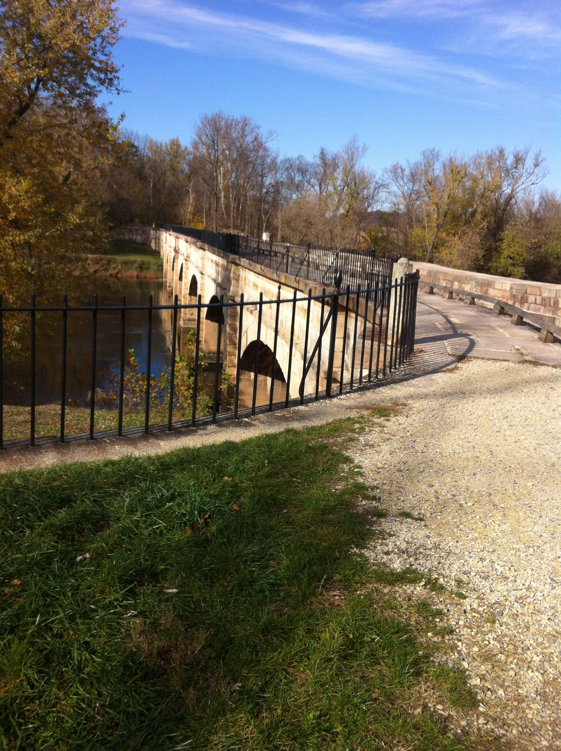 The Monocacy Aquaduct part of the National Park Service. The C&O Canal runs alongside the Potomac River in Maryland.