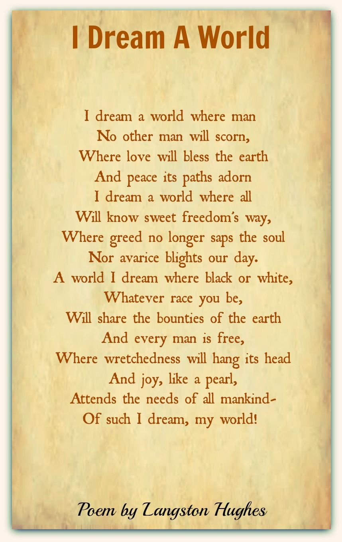 Langston Hughes- 'I Dream a World' | poetry | Langston