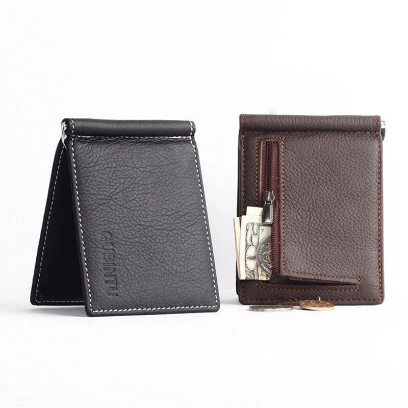 c33e13d52836 GUBINTU Genuine Leather Men Wallets Business Men Purses Brand Designer  First Layer Cowhide Male carteira masculina--BID066 PM49  Affiliate