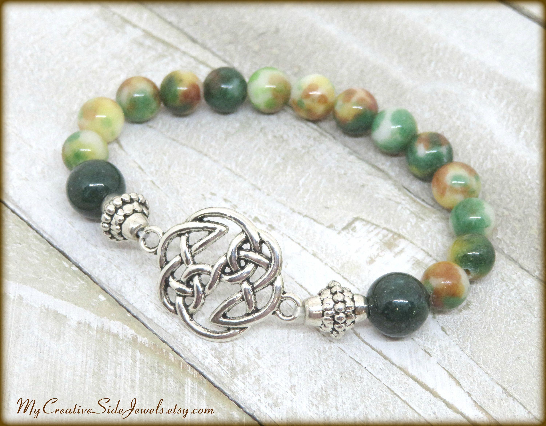 Jade Stackable Knotted Bracelet