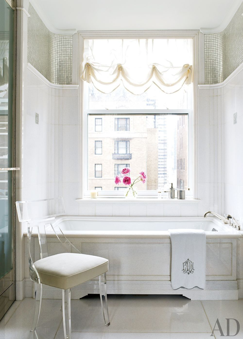 Traditional Bathroom by David Kleinberg Design Associates and David Kleinberg Design Associates in New York, New York
