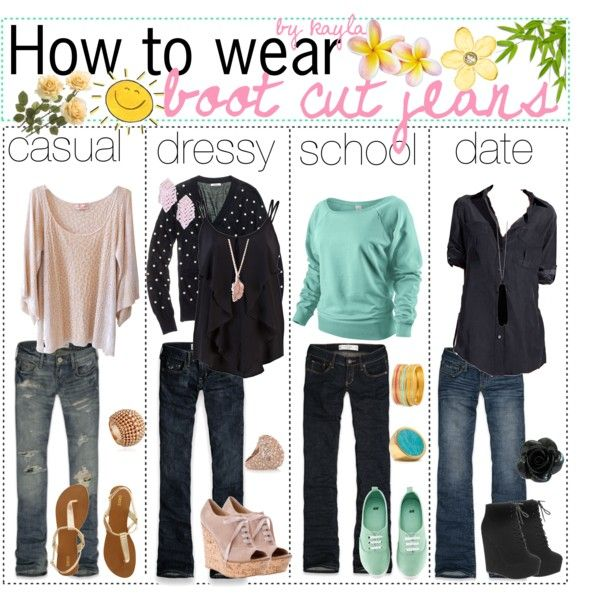 How to wear bootcut jeans ♥