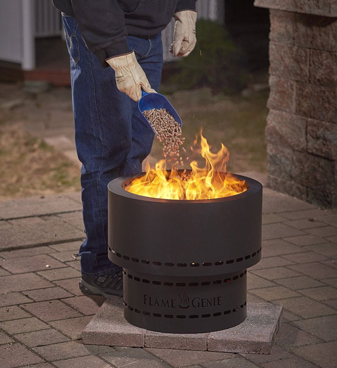 Flame Genie Wood Pellet Smokeless Fire Pit Outdoor Fire Pit Designs Fire Pit Outdoor Fire Pit