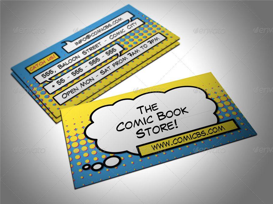 Comic Book Business Card Ad Affiliate