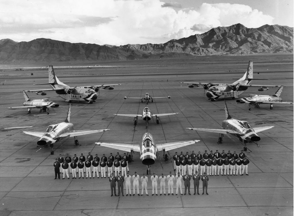 Air Force Thunderbirds, 1958, featuring the F100 Super