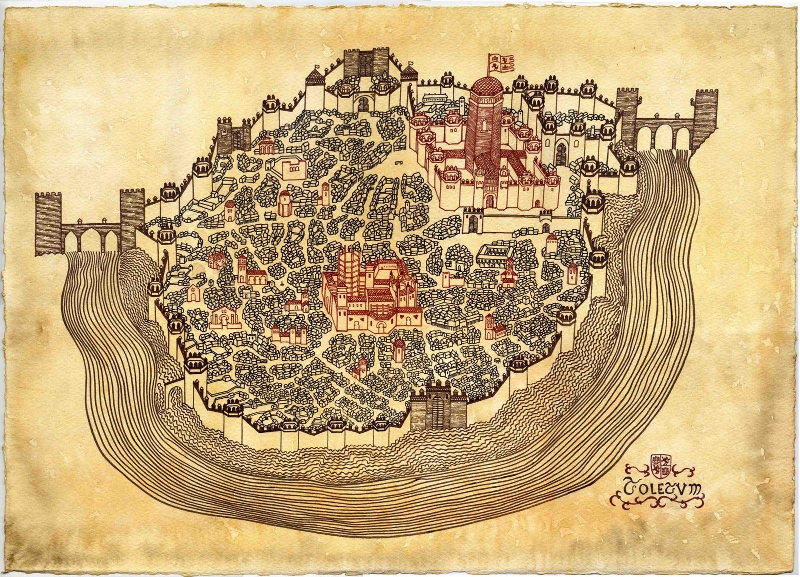 Resultado de imagen de Ciudad Toledo a finales del Medievo