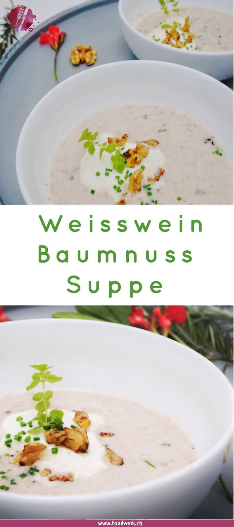 leichte weisswein baumnuss suppe food blogger. Black Bedroom Furniture Sets. Home Design Ideas