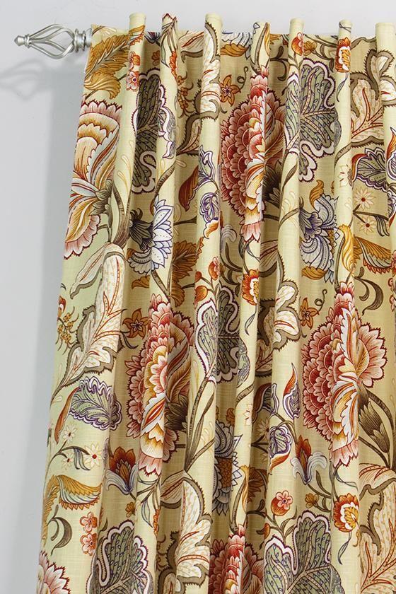 Elegant Custom Back Tab Curtain Panel   Very Bold Choice! Home Decorators