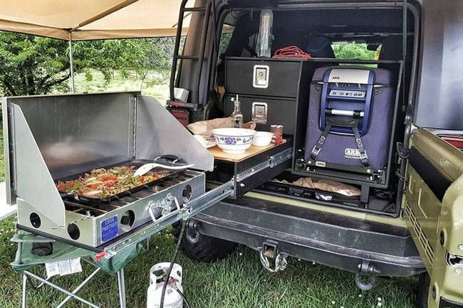 Man S Compact Diy Camping Kitchen System Means Better Off
