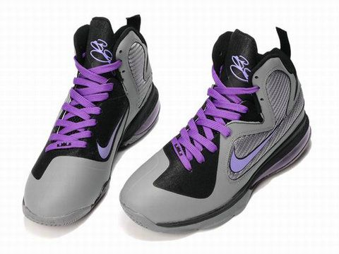 I just like this Nike Basketball Lebron 9 Shoes Miami Nights Cool Grey  Vivid Grey Black Cherry 469764