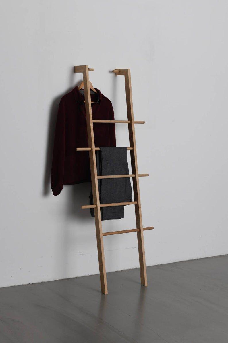 Tb 3 2 Clothes Ladder Kleiderleiter Holzleiter Badezimmer