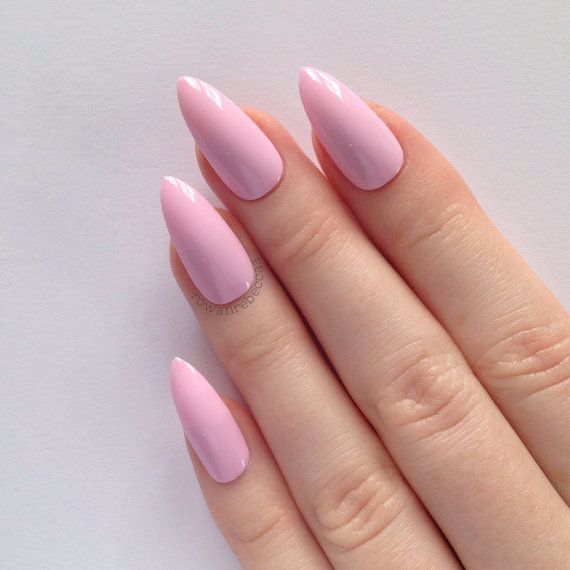 Pastel Pink Stiletto Nails Nail Designs Art
