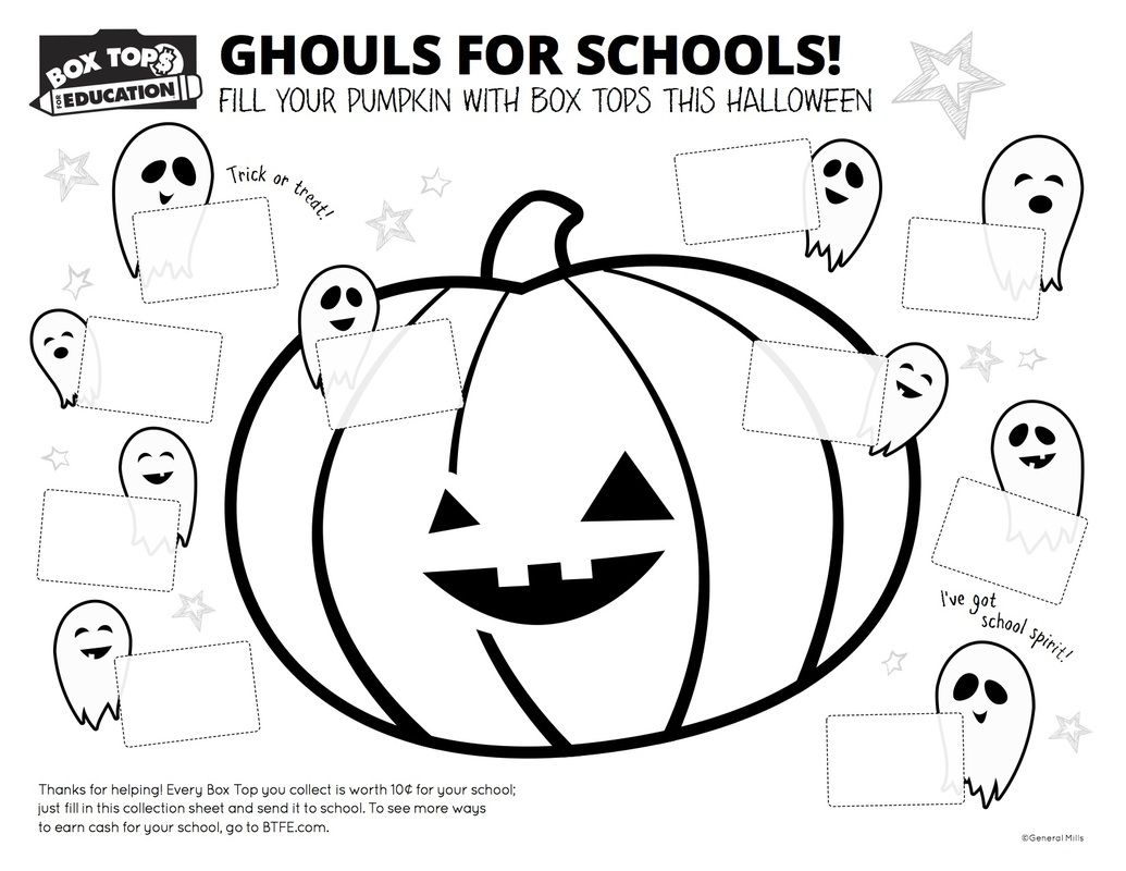 photo about Printable Box Tops Collection Sheets named Halloween BTFE Printable Box best assortment sheets, Box