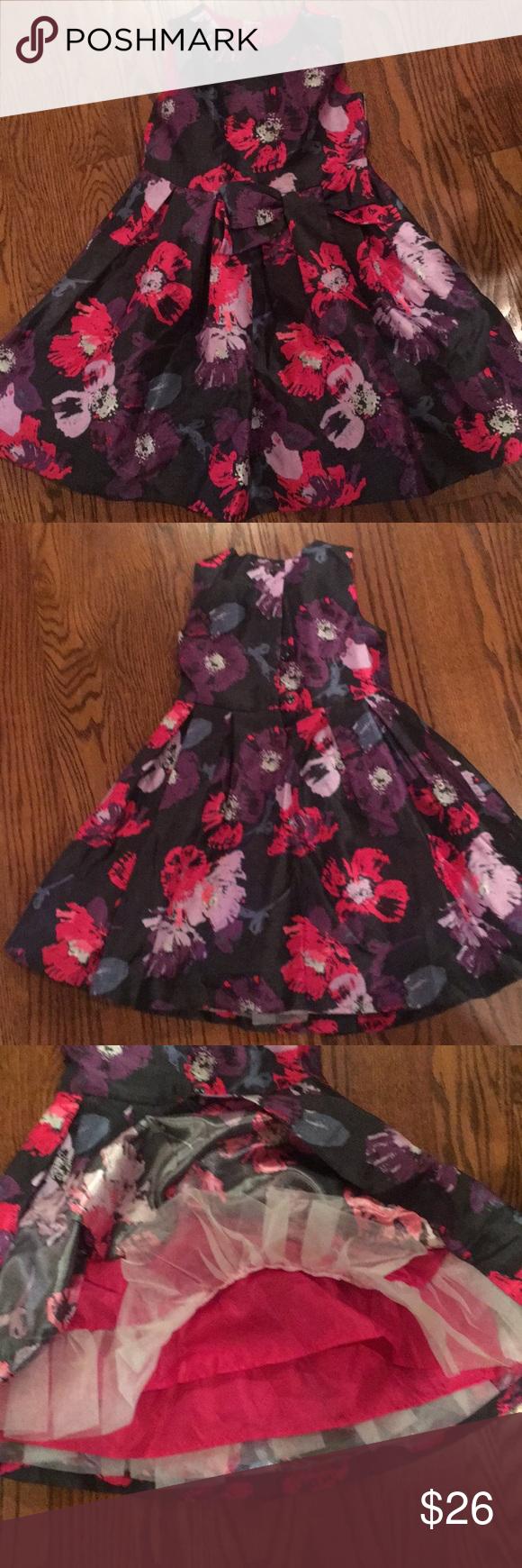 Euc Gymboree Flower Dress 4t Black Purple Pink Flower Dresses 4t Dress Dresses [ 1740 x 580 Pixel ]
