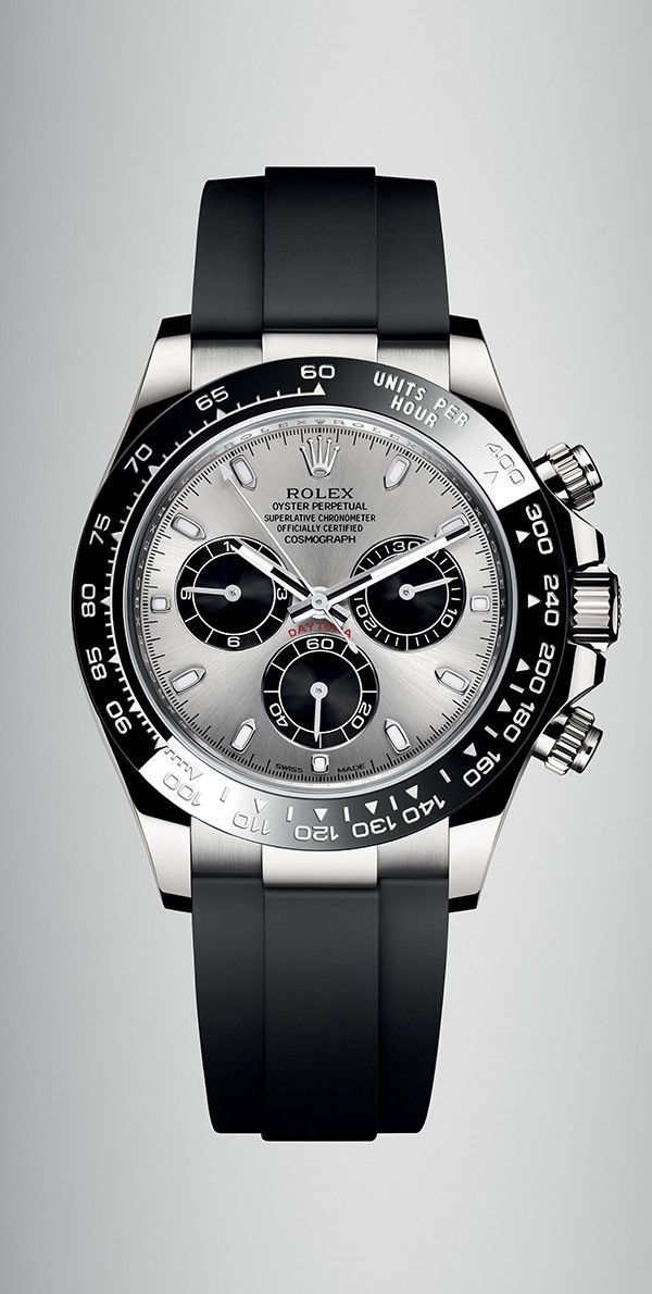 8ed2d58a22a The new Rolex Cosmograph Daytona in 18ct white gold with a black monobloc  Cerachrom bezel in ceramic