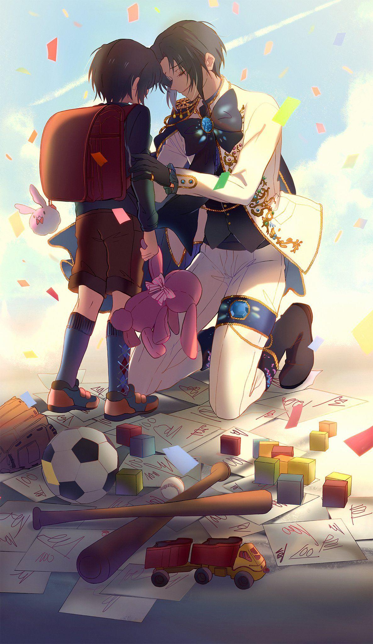 idolish7 animasi ilustrasi seni anime