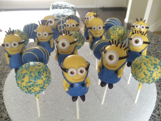 Images Of Minion Cake Pops : Minion Cake Pops Baking Pinterest Minion cakes ...