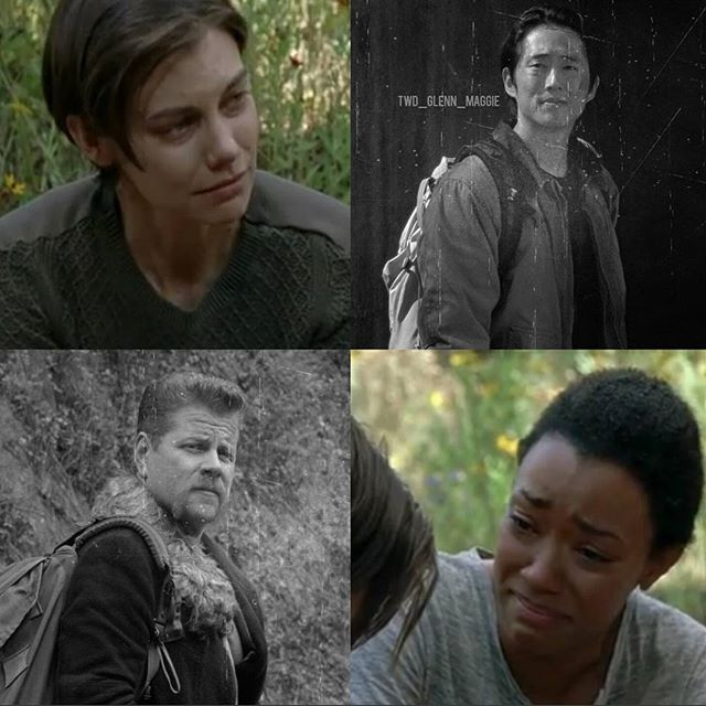 Why they have to break us like this? Jeez.  I'm also convinced that Jesus, Sasha and Maggie are going to be the holy trinity  #thewalkingdead #glaggie #gleggie #glennrhee #stevenyeun #maggiegreene #laurencohan #abrahamford #michaelcudlitz #sashawilliams #sonequamartingreen #twd