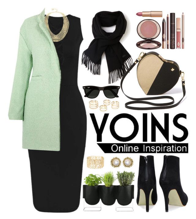 """Yoins.com"" by oshint ❤ liked on Polyvore featuring moda, BCBGMAXAZRIA, Lacoste, Charlotte Tilbury, Authentics, Ray-Ban, Charlotte Russe, Kendra Scott y yoins"