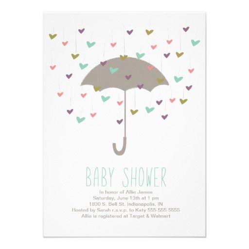 Umbrella Baby Shower Invitation Zazzle Com