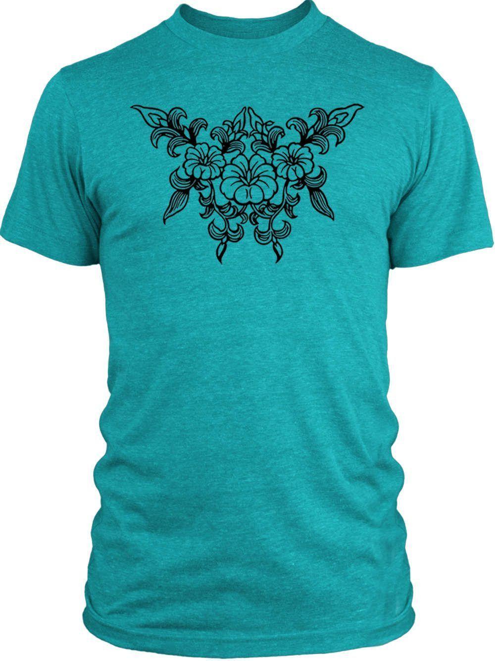 Big Texas Flower Tattoo (Black) Vintage Tri-Blend T-Shirt