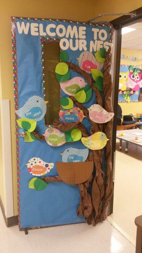 Preschool Door Quot Welcome To Our Nest Quot School Fall 2013