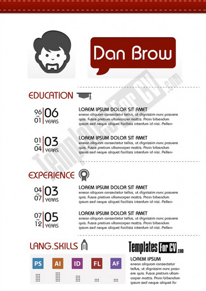 Single Page Resume Template Graphic Designer Single Page Cv Template  Creative Resume