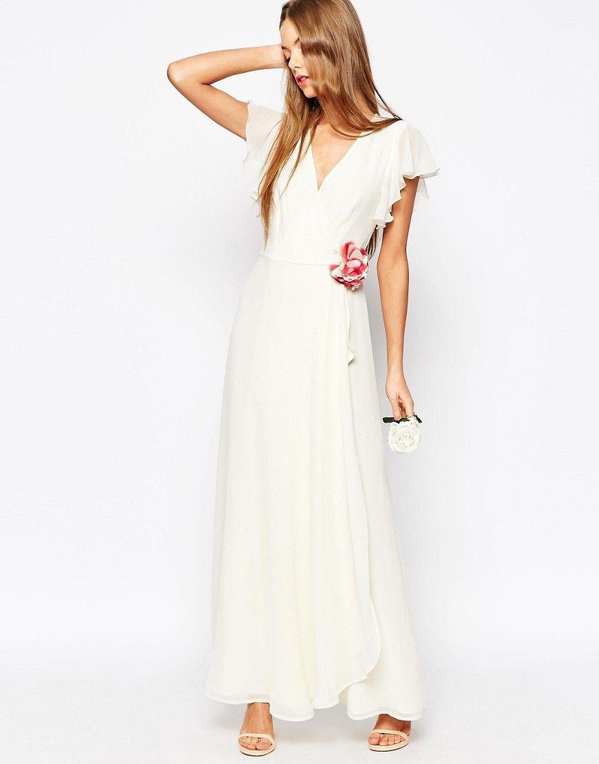 Vestidos blancos largos cruzados