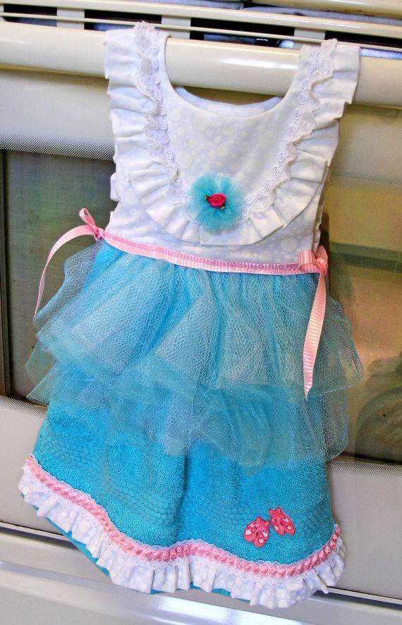 9df4b4e94550 Tutu Dish Towel Dress in Blue White and Pink