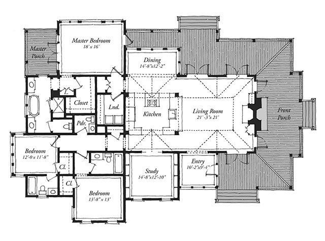 New Tideland Haven (Plan U2014 Floorplan (Southern Living House Plans)