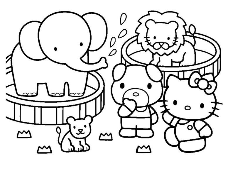 Coloring Pages Hello Kitty Dr Odd Hello Kitty Colouring Pages